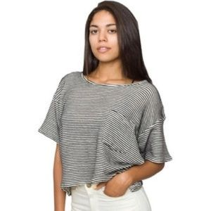 Relaxed Fit Striped Croptop
